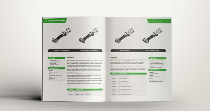 Traffic hardware design website and product catalogue for Product design website